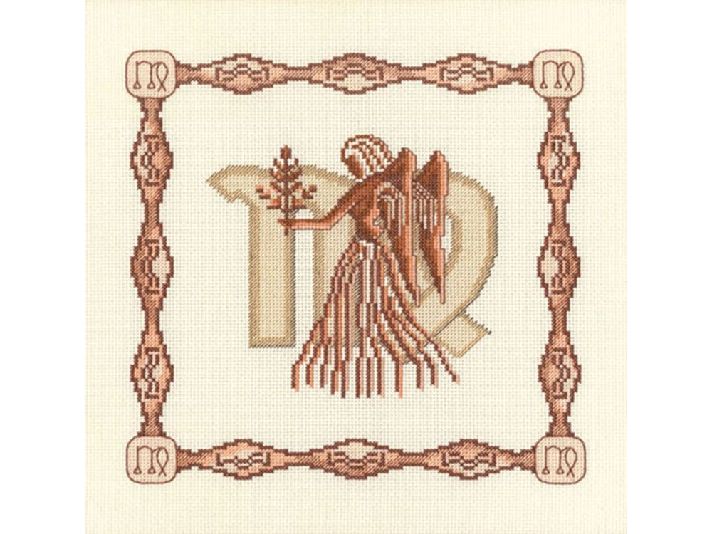 Набор для вышивания «Дева»Вышивка крестом Золотое Руно<br><br><br>Артикул: Г-009<br>Основа: канва Aida 14<br>Размер: 23x23 см<br>Техника вышивки: счетный крест<br>Тип схемы вышивки: Черно-белая схема<br>Цвет канвы: Кремовый<br>Количество цветов: 10<br>Заполнение: Частичное<br>Рисунок на канве: не нанесён<br>Техника: Вышивка крестом