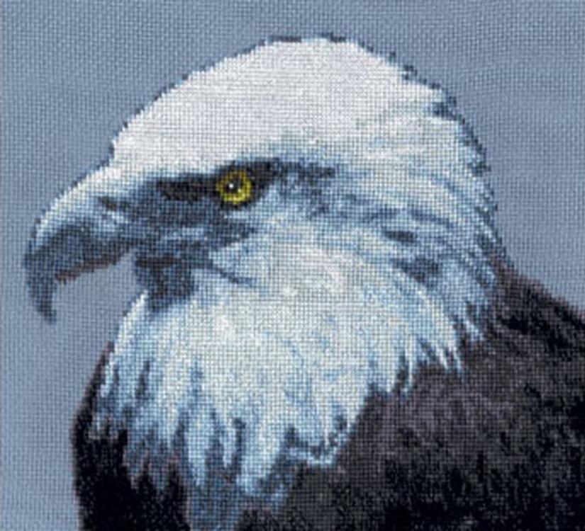 Набор для вышивания «Орел»Вышивка крестом Золотое Руно<br><br><br>Артикул: ДЖ-012<br>Основа: канва Aida 16<br>Размер: 18,3x21 см<br>Техника вышивки: счетный крест<br>Тип схемы вышивки: Черно-белая схема<br>Цвет канвы: Голубой<br>Количество цветов: 12<br>Заполнение: Частичное<br>Рисунок на канве: не нанесён<br>Техника: Вышивка крестом