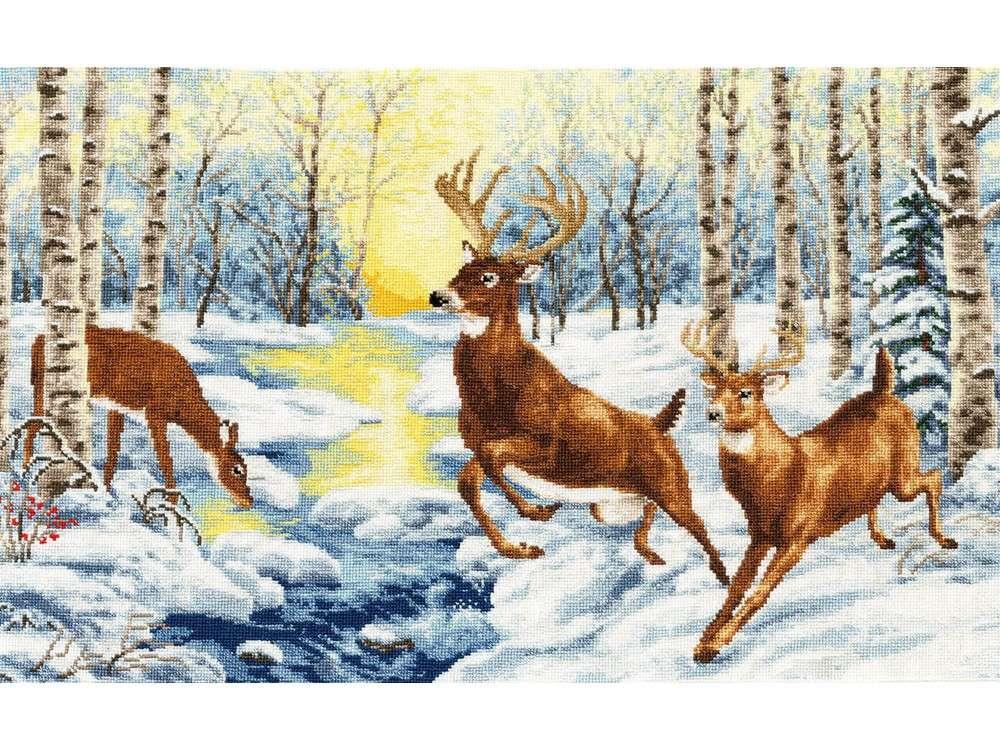 Набор для вышивания «В весеннем лесу»Вышивка крестом Золотое Руно<br><br><br>Артикул: ДЖ-038<br>Основа: канва Aida 18<br>Размер: 45x27 см<br>Техника вышивки: счетный крест<br>Тип схемы вышивки: Черно-белая схема<br>Цвет канвы: Белый<br>Количество цветов: 35<br>Заполнение: Полное<br>Рисунок на канве: не нанесён<br>Техника: Вышивка крестом