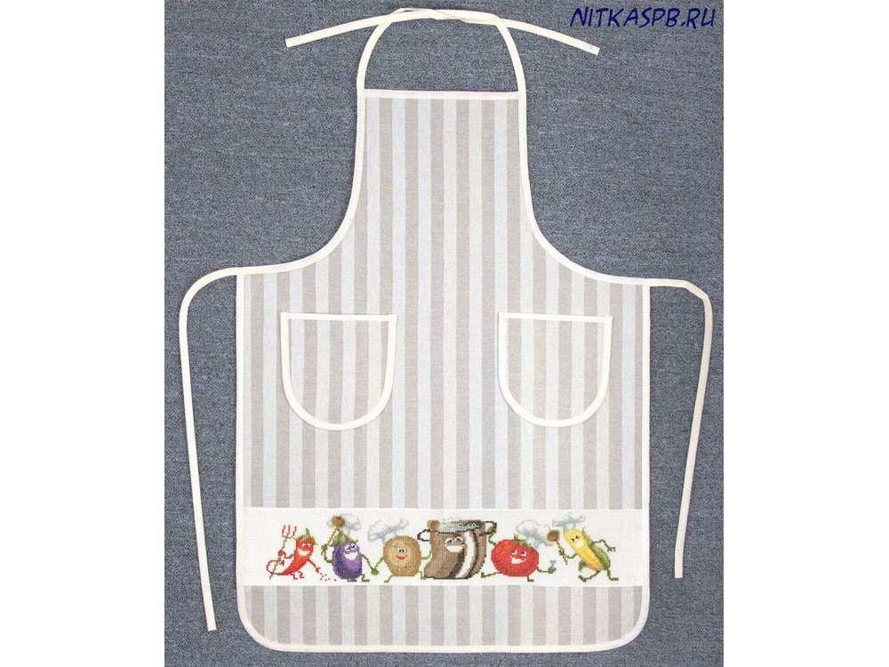 Набор для вышивания «Фартук «Веселые овощи»»Вышивка крестом Золотое Руно<br><br><br>Артикул: ДУ-007<br>Основа: хлопок/лён<br>Размер: 60x85 см<br>Техника вышивки: счетный крест<br>Тип схемы вышивки: Черно-белая схема<br>Цвет канвы: Белый<br>Количество цветов: 23<br>Художник, дизайнер: Елена Крумина<br>Заполнение: Частичное<br>Рисунок на канве: не нанесён<br>Техника: Вышивка фартуков