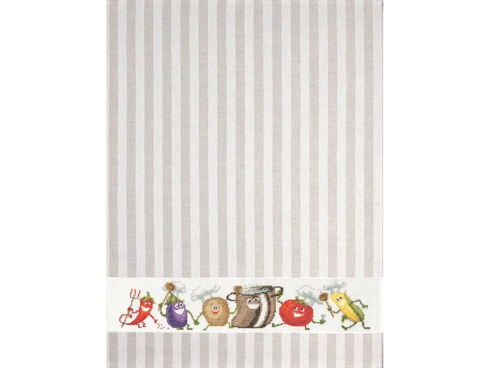 Набор для вышивания «Полотенце «Веселые овощи»»Вышивка крестом Золотое Руно<br><br><br>Артикул: ДУ-008<br>Основа: хлопок/лён<br>Размер: 60x75 см<br>Техника вышивки: счетный крест<br>Тип схемы вышивки: Черно-белая схема<br>Цвет канвы: Белый<br>Количество цветов: 23<br>Заполнение: Частичное<br>Рисунок на канве: не нанесён<br>Техника: Вышивка полотенец
