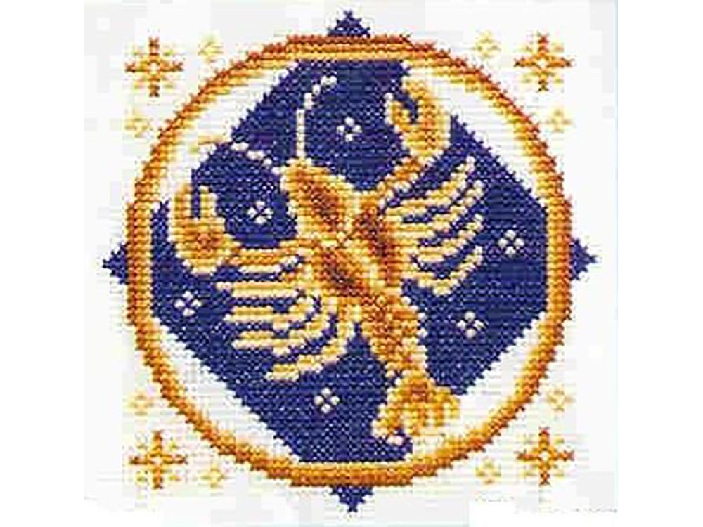 Набор для вышивания «Рак»Вышивка крестом Золотое Руно<br><br><br>Артикул: ЗЗ-004<br>Основа: канва Aida 14<br>Размер: 11x11 см<br>Техника вышивки: счетный крест<br>Тип схемы вышивки: Черно-белая схема<br>Цвет канвы: Белый<br>Количество цветов: 6<br>Заполнение: Частичное<br>Рисунок на канве: не нанесён<br>Техника: Вышивка крестом