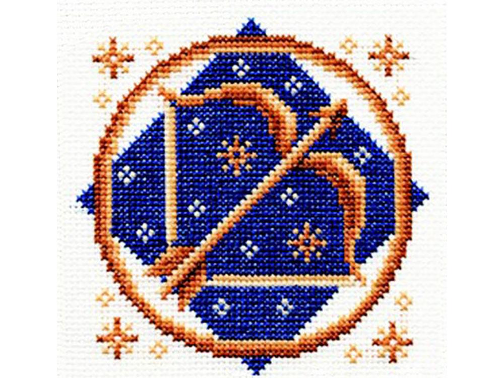 Набор для вышивания «Стрелец»Вышивка крестом Золотое Руно<br><br><br>Артикул: ЗЗ-009<br>Основа: канва Aida 14<br>Размер: 11x11 см<br>Техника вышивки: счетный крест<br>Тип схемы вышивки: Черно-белая схема<br>Цвет канвы: Белый<br>Количество цветов: 6<br>Заполнение: Частичное<br>Рисунок на канве: не нанесён<br>Техника: Вышивка крестом