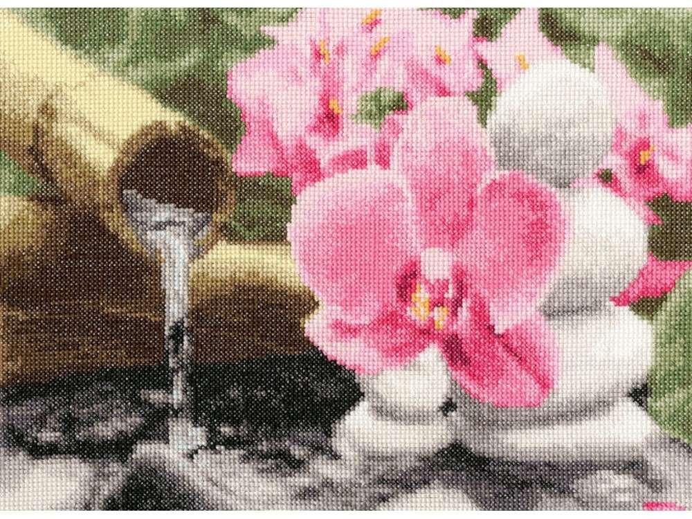 Набор для вышивания «Энергия воды»Вышивка крестом Золотое Руно<br><br><br>Артикул: МГ-014<br>Основа: канва Aida 14<br>Размер: 20,7x27,9 см<br>Техника вышивки: счетный крест<br>Тип схемы вышивки: Черно-белая схема<br>Цвет канвы: Белый<br>Количество цветов: 25<br>Заполнение: Полное<br>Рисунок на канве: не нанесён<br>Техника: Вышивка крестом