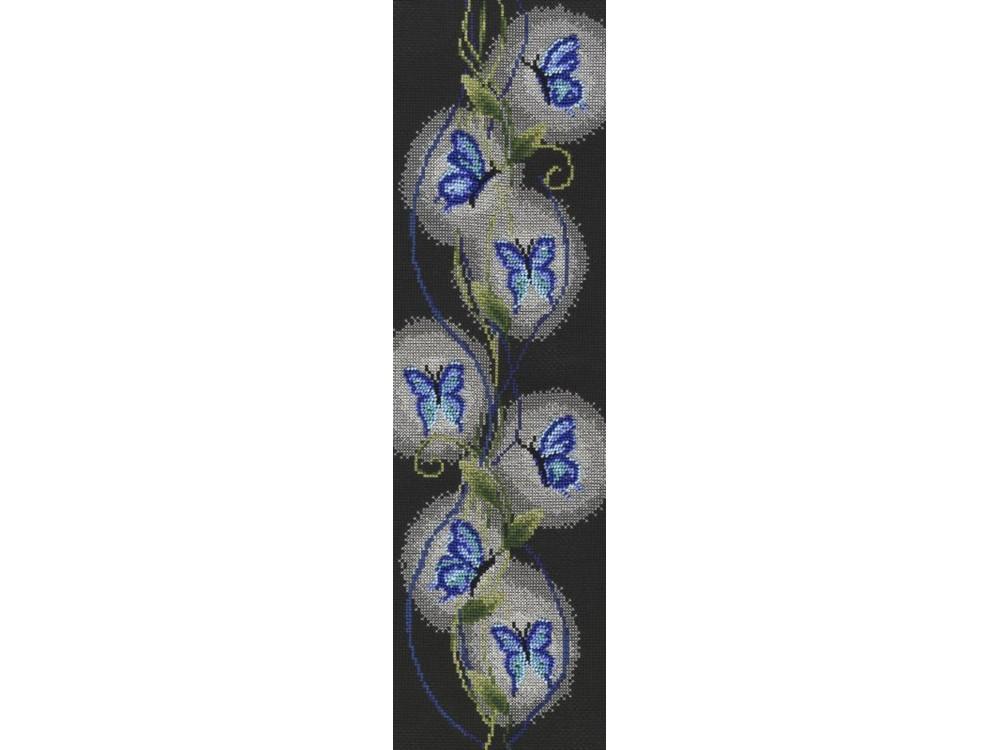 Набор для вышивания «Бабочки»Вышивка крестом Золотое Руно<br><br><br>Артикул: НА-008<br>Основа: канва Aida 14<br>Размер: 45,3x14,3 см<br>Техника вышивки: счетный крест<br>Тип схемы вышивки: Черно-белая схема<br>Цвет канвы: Черный<br>Количество цветов: 10<br>Заполнение: Частичное<br>Рисунок на канве: не нанесён<br>Техника: Вышивка крестом