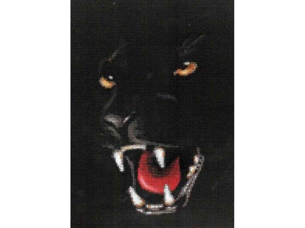 Набор для вышивания «Пантера»Вышивка крестом Золотое Руно<br><br><br>Артикул: НС-003<br>Основа: канва Aida 14<br>Размер: 22x13,5 см<br>Техника вышивки: счетный крест<br>Тип схемы вышивки: Черно-белая схема<br>Цвет канвы: Черный<br>Количество цветов: 15<br>Заполнение: Частичное<br>Рисунок на канве: не нанесён<br>Техника: Вышивка крестом