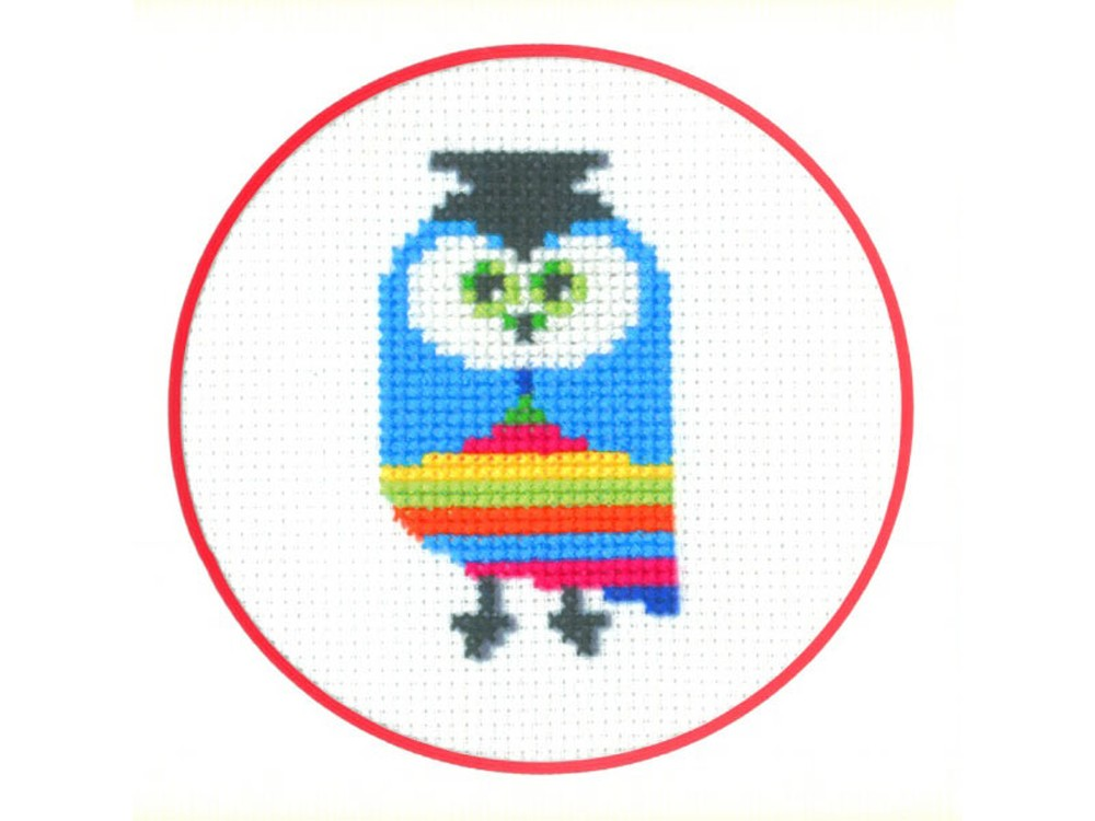Набор для вышивания «Совёнок»Вышивка крестом Золотое Руно<br><br><br>Артикул: ПК-002<br>Основа: канва Aida 14<br>Размер: 7x7,8 см<br>Техника вышивки: счетный крест<br>Тип схемы вышивки: Черно-белая схема<br>Цвет канвы: Белый<br>Количество цветов: 8<br>Заполнение: Частичное<br>Рисунок на канве: не нанесён<br>Техника: Вышивка крестом