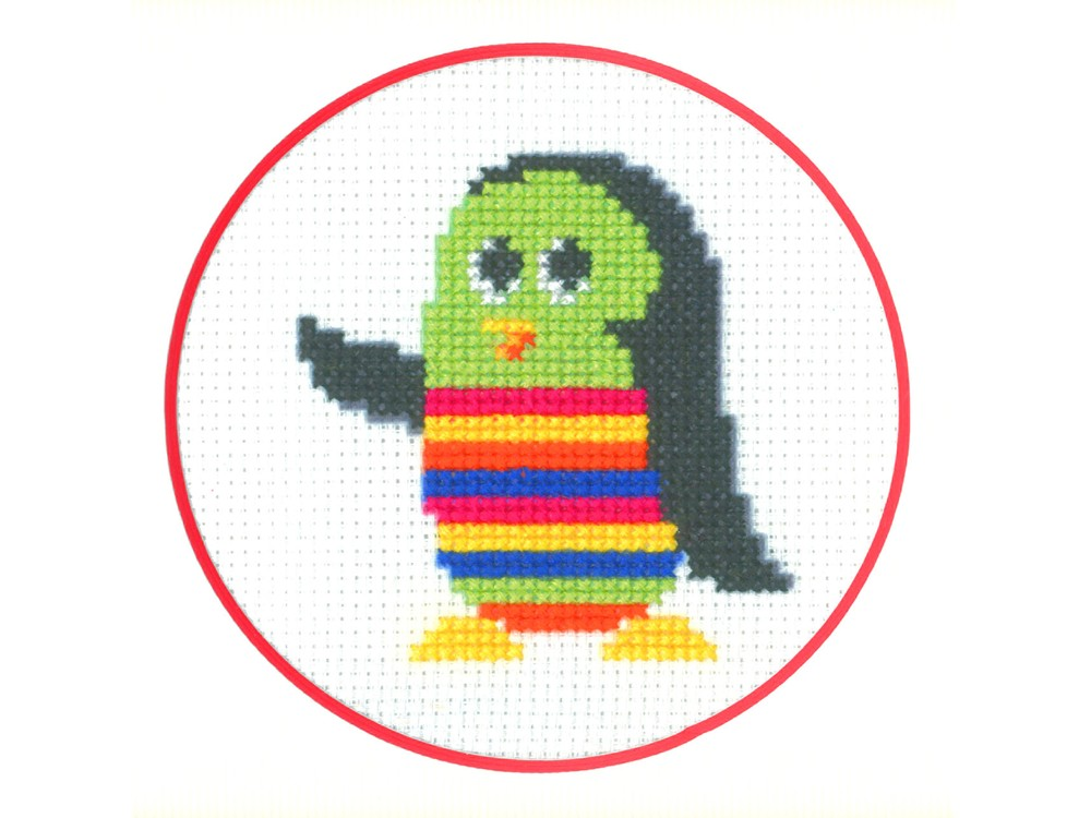 Набор для вышивания «Пингвин»Вышивка крестом Золотое Руно<br><br><br>Артикул: ПК-003<br>Основа: канва Aida 14<br>Размер: 7x7,8 см<br>Техника вышивки: счетный крест<br>Тип схемы вышивки: Черно-белая схема<br>Цвет канвы: Белый<br>Количество цветов: 8<br>Заполнение: Частичное<br>Рисунок на канве: не нанесён<br>Техника: Вышивка крестом
