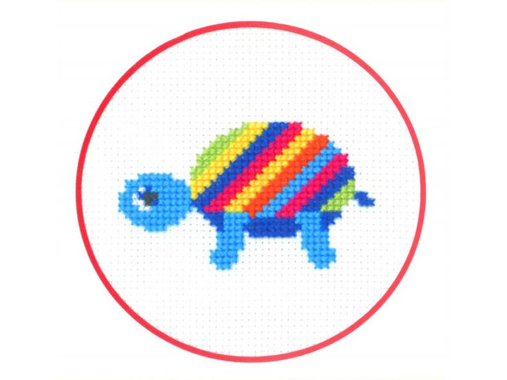 Набор для вышивания «Черепашка»Вышивка крестом Золотое Руно<br><br><br>Артикул: ПК-004<br>Основа: канва Aida 14<br>Размер: 7x7,8 см<br>Техника вышивки: счетный крест<br>Тип схемы вышивки: Черно-белая схема<br>Цвет канвы: Белый<br>Количество цветов: 8<br>Заполнение: Частичное<br>Рисунок на канве: не нанесён<br>Техника: Вышивка крестом