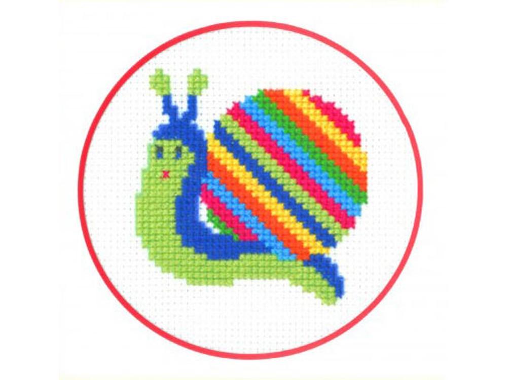 Набор для вышивания «Улитка»Вышивка крестом Золотое Руно<br><br><br>Артикул: ПК-005<br>Основа: канва Aida 14<br>Размер: 7x7,8 см<br>Техника вышивки: счетный крест<br>Тип схемы вышивки: Черно-белая схема<br>Цвет канвы: Белый<br>Количество цветов: 8<br>Заполнение: Частичное<br>Рисунок на канве: не нанесён<br>Техника: Вышивка крестом
