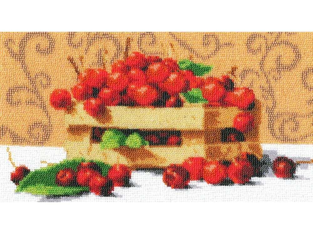 Набор вышивки бисером «Спелые вишни»Вышивка бисером Золотое Руно<br><br><br>Артикул: РТ-024<br>Основа: искусственный шелк<br>Размер: 16,8x30 см<br>Техника вышивки: бисер<br>Тип схемы вышивки: Цветная схема<br>Количество цветов: 20<br>Заполнение: Частичное<br>Рисунок на канве: нанесён рисунок и схема<br>Техника: Вышивка бисером