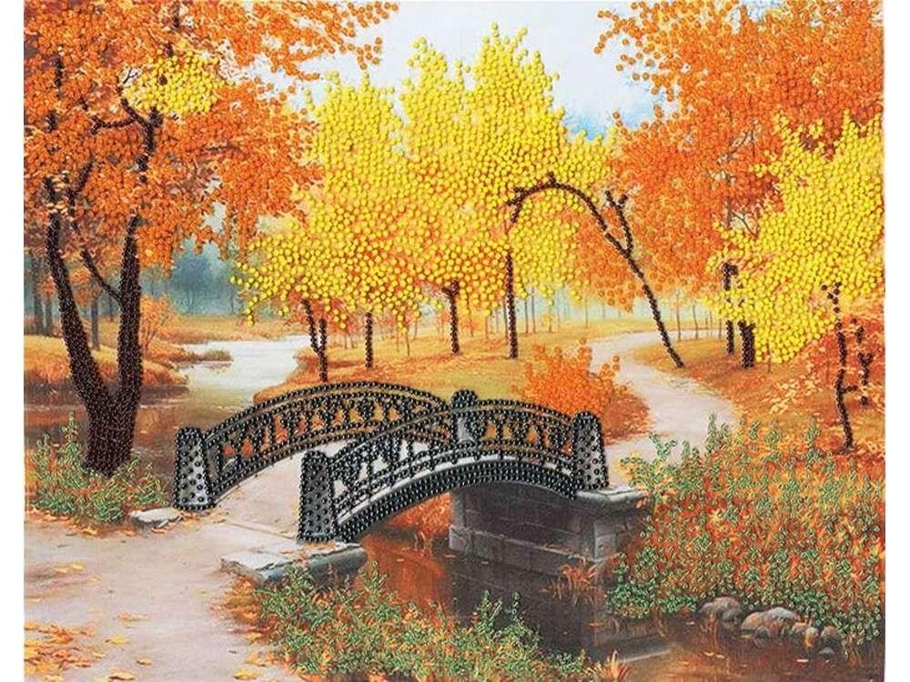Набор вышивки бисером «Осенний парк»Вышивка бисером Золотое Руно<br><br><br>Артикул: РТ-066<br>Основа: искусственный шелк<br>Размер: 28,2x35 см<br>Техника вышивки: бисер<br>Тип схемы вышивки: Цветная схема<br>Количество цветов: 6<br>Заполнение: Частичное<br>Рисунок на канве: нанесён рисунок и схема<br>Техника: Вышивка бисером