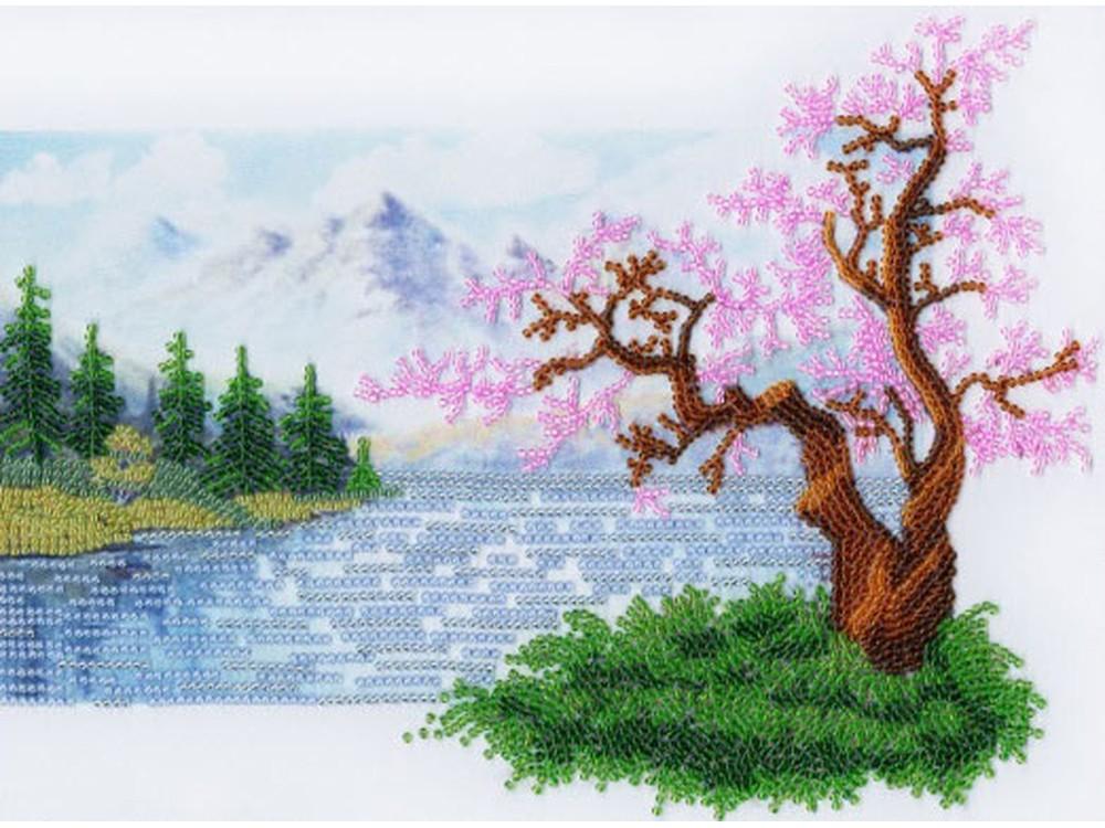 Набор вышивки бисером «Поцелуй рассвета»Вышивка бисером Золотое Руно<br><br><br>Артикул: РТ-087<br>Основа: искусственный шелк<br>Размер: 19,8x30 см<br>Техника вышивки: бисер<br>Тип схемы вышивки: Цветная схема<br>Количество цветов: 11<br>Заполнение: Частичное<br>Рисунок на канве: нанесён рисунок и схема<br>Техника: Вышивка бисером