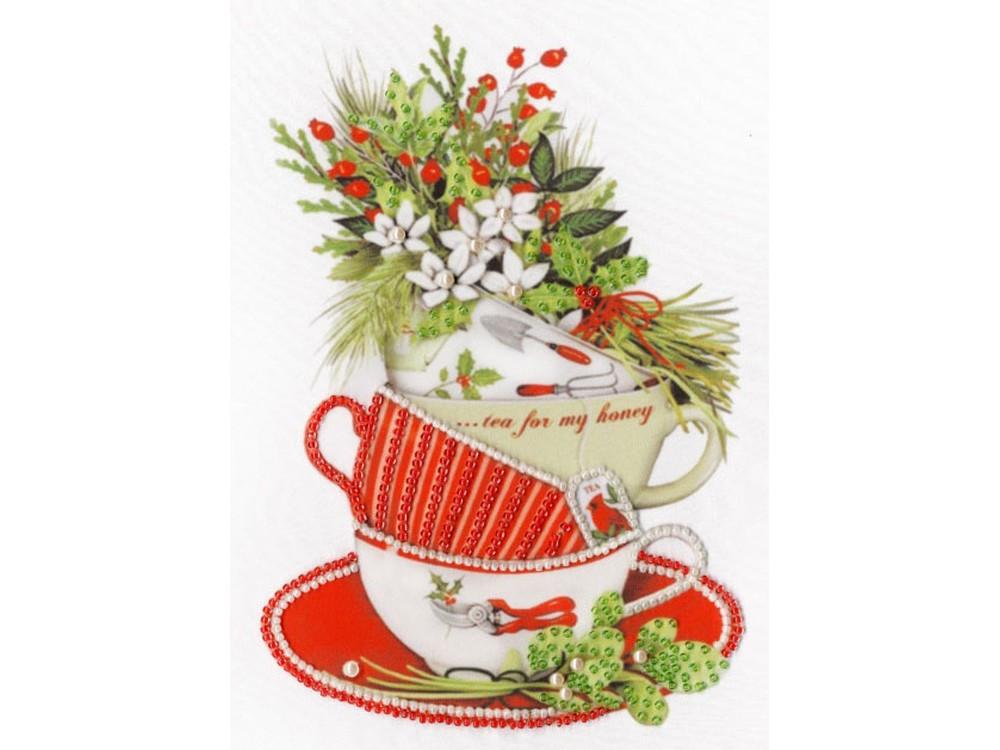 Набор вышивки бисером «Жасминовый чай»Вышивка бисером Золотое Руно<br><br><br>Артикул: РТ-155<br>Основа: искусственный шелк<br>Размер: 20x16 см<br>Техника вышивки: бисер<br>Тип схемы вышивки: Цветная схема<br>Количество цветов: 4<br>Заполнение: Частичное<br>Рисунок на канве: нанесён рисунок и схема<br>Техника: Вышивка бисером
