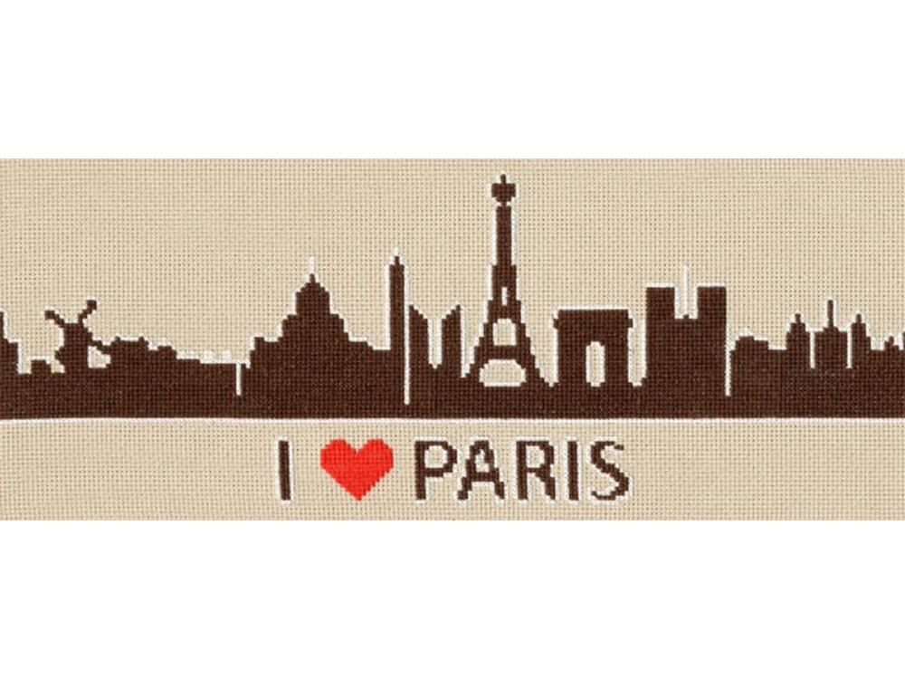 Набор для вышивания «Я люблю Париж»Вышивка крестом Золотое Руно<br><br><br>Артикул: СГ-006<br>Основа: канва Aida 18<br>Размер: 11,9x28,4 см<br>Техника вышивки: счетный крест<br>Тип схемы вышивки: Черно-белая схема<br>Цвет канвы: Серо-бежевый<br>Количество цветов: 3<br>Заполнение: Частичное<br>Рисунок на канве: не нанесён<br>Техника: Вышивка крестом