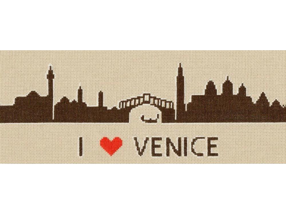 Набор для вышивания «Я люблю Венецию»Вышивка крестом Золотое Руно<br><br><br>Артикул: СГ-007<br>Основа: канва Aida 18<br>Размер: 11,9x28,4 см<br>Техника вышивки: счетный крест<br>Тип схемы вышивки: Черно-белая схема<br>Цвет канвы: Серо-бежевый<br>Количество цветов: 3<br>Заполнение: Частичное<br>Рисунок на канве: не нанесён<br>Техника: Вышивка крестом