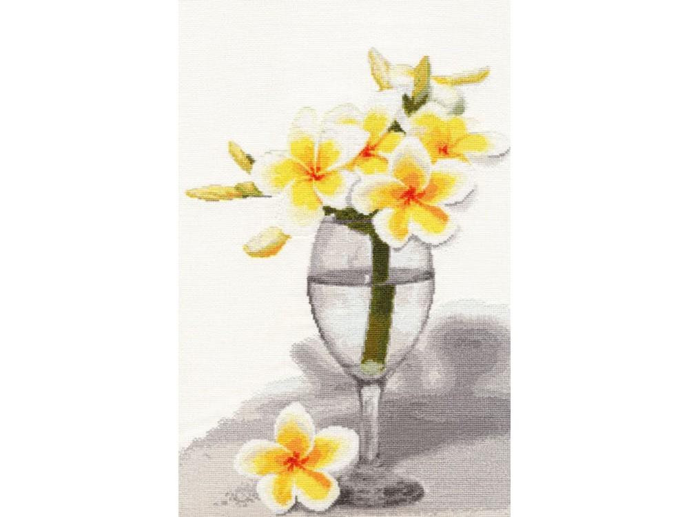 Набор для вышивания «Тайский цветок»Вышивка крестом Золотое Руно<br><br><br>Артикул: СЖ-026<br>Основа: канва Aida 16<br>Размер: 41x26,3 см<br>Техника вышивки: счетный крест<br>Тип схемы вышивки: Черно-белая схема<br>Цвет канвы: Кремовый<br>Количество цветов: 27<br>Заполнение: Частичное<br>Рисунок на канве: не нанесён<br>Техника: Вышивка крестом
