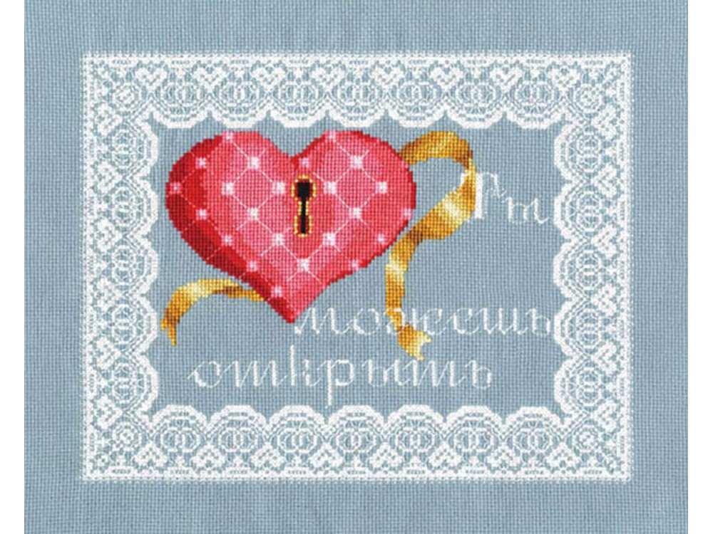 Набор для вышивания «Мое сердце»Вышивка крестом Золотое Руно<br><br><br>Артикул: СШ-007<br>Основа: канва Aida 16<br>Размер: 19x24 см<br>Техника вышивки: счетный крест<br>Тип схемы вышивки: Черно-белая схема<br>Цвет канвы: Серо-голубой<br>Количество цветов: 14<br>Заполнение: Частичное<br>Рисунок на канве: не нанесён<br>Техника: Вышивка крестом
