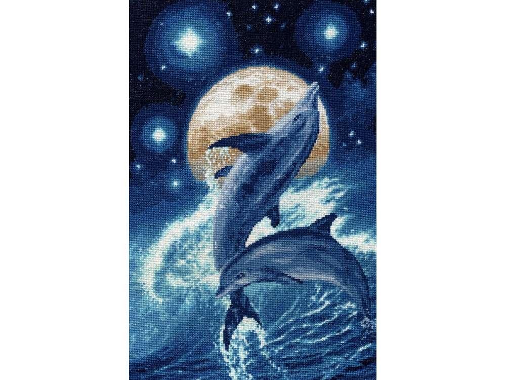 Набор для вышивания «Дельфины»Вышивка крестом Золотое Руно<br><br><br>Артикул: Ф-031<br>Основа: канва Aida 16<br>Размер: 35,2x22,9 см<br>Техника вышивки: счетный крест<br>Тип схемы вышивки: Черно-белая схема<br>Цвет канвы: Кремовый<br>Количество цветов: 15<br>Заполнение: Полное<br>Рисунок на канве: не нанесён<br>Техника: Вышивка крестом