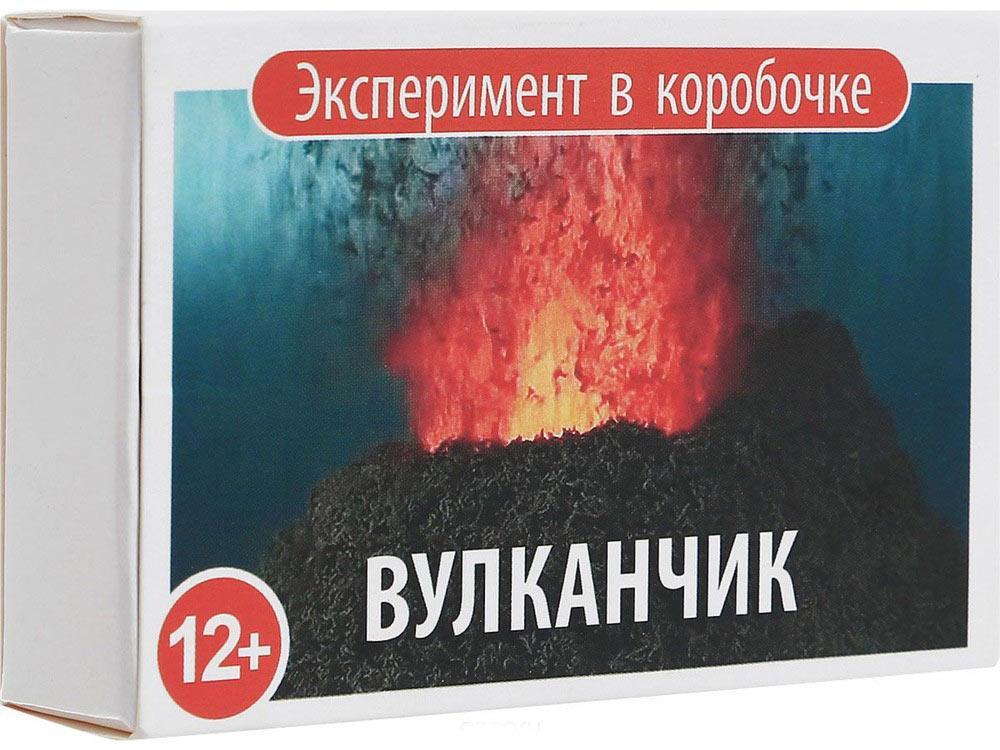 Простая наука «Вулканчик». Эксперимент в коробочкеНаборы для опытов и экспериментов<br>Происходящее удивительно похоже на извержение настоящего вулкана: огонь, пепел и вулканический тор. Все по-настоящему!<br> <br>Самоподдерживаемая экзотермическая реакция разложения бихромата аммония визуально похожа на извержение настоящего вулкана, только в ...<br><br>Артикул: 0304<br>Вес: 40 г<br>Размер упаковки: 9x6x2,5 см<br>Возраст: от 12 лет