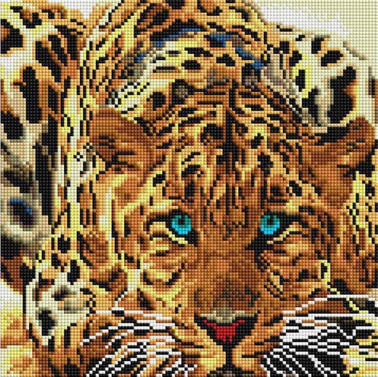 Алмазная вышивка «Леопард»Алмазная вышивка фирмы Белоснежка<br><br><br>Артикул: 088-ST-S<br>Основа: Холст на подрамнике<br>Сложность: сложные<br>Размер: 30x30 см<br>Выкладка: Полная<br>Количество цветов: 20<br>Тип страз: Квадратные