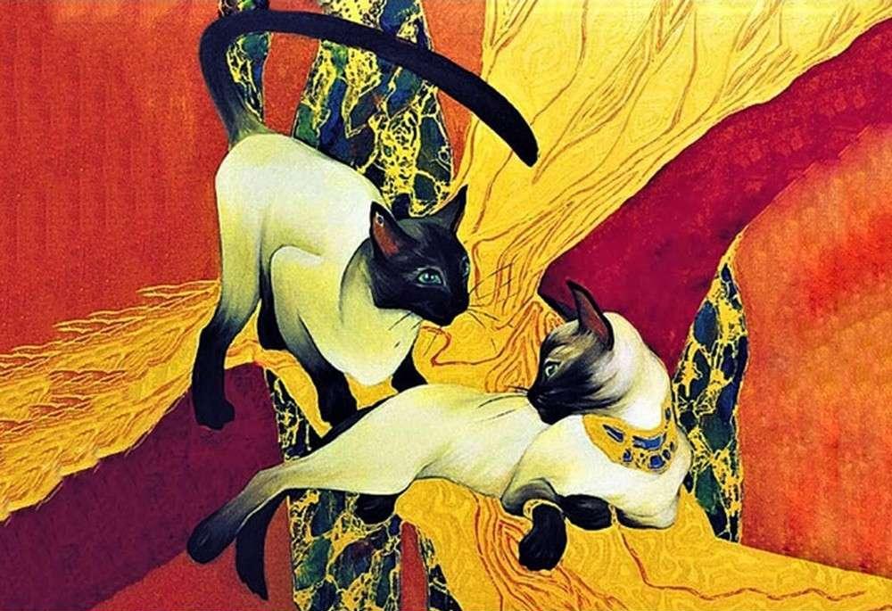 Алмазная вышивка «Сиамские кошки» Галлы Абдель ФаттахАлмазная вышивка Гранни<br><br><br>Артикул: Ag 068<br>Основа: Холст без подрамника<br>Сложность: очень сложные<br>Размер: 48x70 см<br>Выкладка: Полная<br>Количество цветов: 47<br>Тип страз: Квадратные