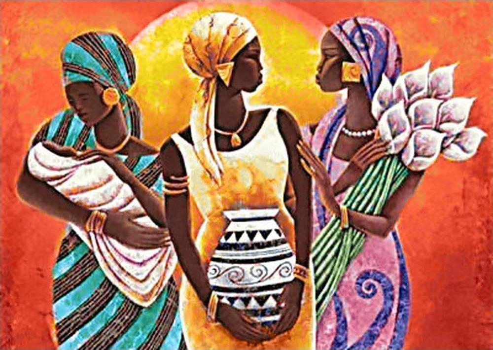Алмазная вышивка «Африканские женщины»Алмазная вышивка Гранни<br><br><br>Артикул: Ag 6027<br>Основа: Холст без подрамника<br>Сложность: средние<br>Размер: 27x38 см<br>Выкладка: Полная<br>Количество цветов: 36<br>Тип страз: Квадратные