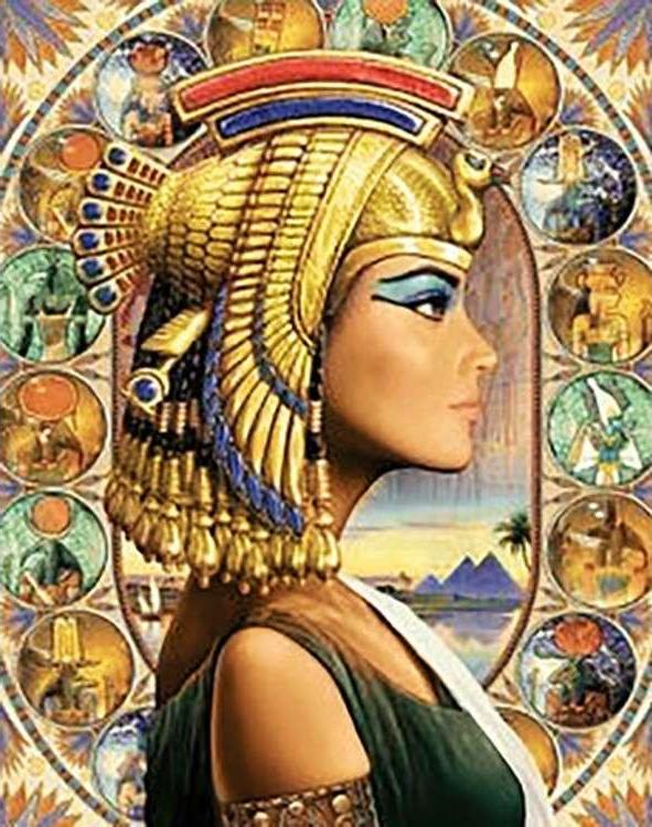 Алмазная вышивка «Царица Египта»Алмазная вышивка Гранни<br><br><br>Артикул: Ag 6033<br>Основа: Холст без подрамника<br>Сложность: очень сложные<br>Размер: 38x48 см<br>Выкладка: Полная<br>Количество цветов: 50<br>Тип страз: Квадратные