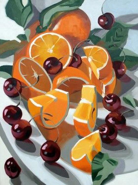 Стразы «Апельсины и вишни» Ли-Энн ЭгертонАлмазная вышивка Гранни<br><br><br>Артикул: Ag2238<br>Основа: Холст без подрамника<br>Сложность: средние<br>Размер: 27х38 см<br>Выкладка: Полная<br>Количество цветов: 45<br>Тип страз: Квадратные