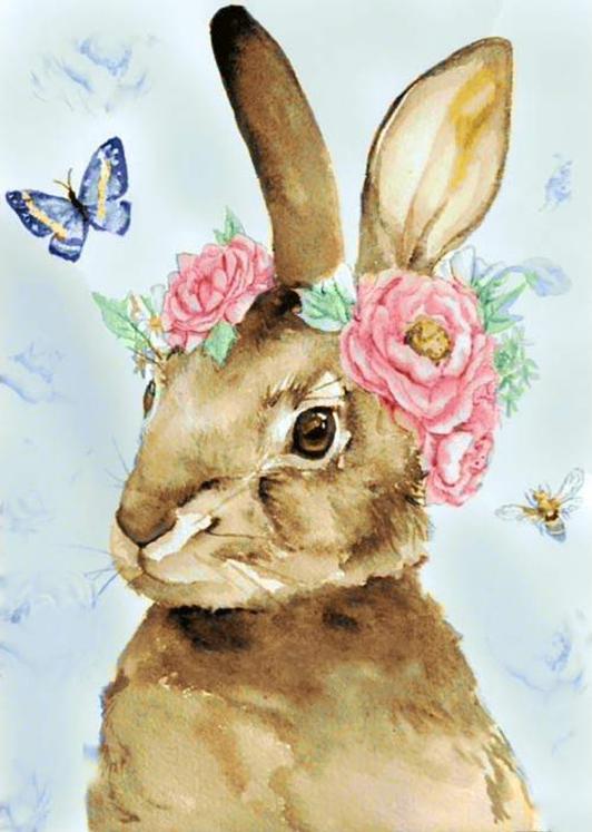 Алмазная вышивка «Пасхальный кролик»Алмазная вышивка Гранни<br><br><br>Артикул: Ag3433<br>Основа: Холст без подрамника<br>Сложность: сложные<br>Размер: 27x38 см<br>Выкладка: Полная<br>Количество цветов: 32<br>Тип страз: Квадратные