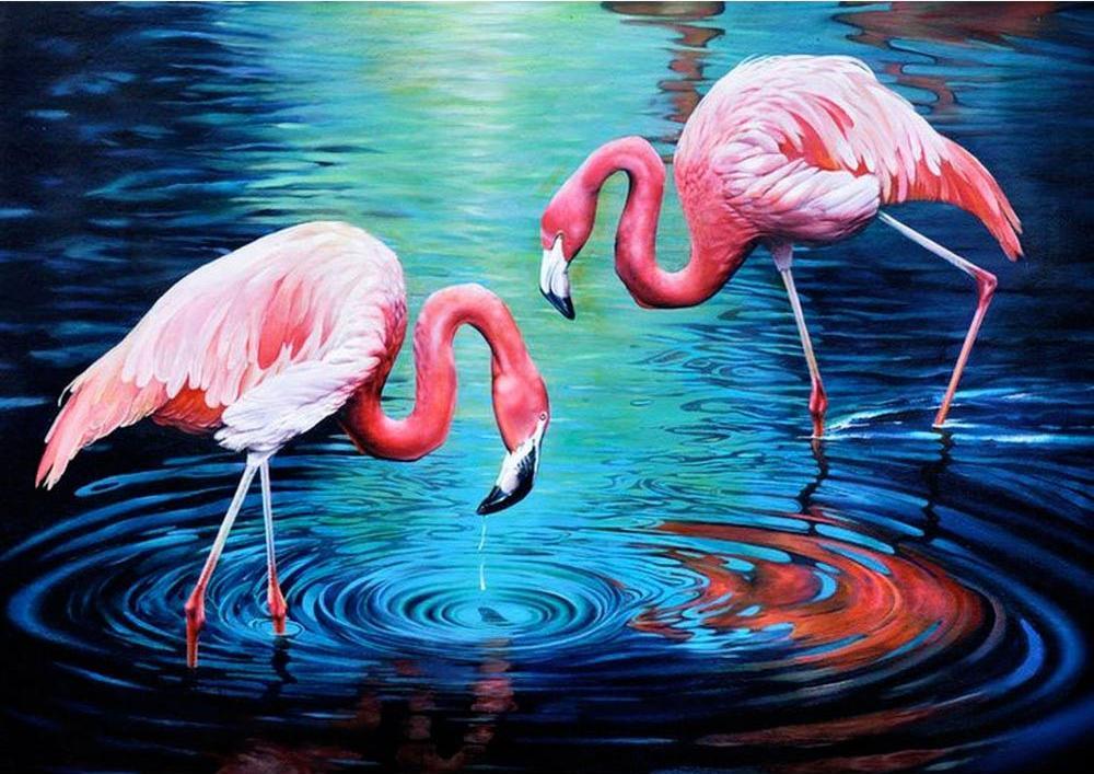 Алмазная вышивка «Фламинго на озере»Алмазная вышивка Гранни<br><br><br>Артикул: Ag3442<br>Основа: Холст без подрамника<br>Сложность: сложные<br>Размер: 27x38 см<br>Выкладка: Полная<br>Количество цветов: 36<br>Тип страз: Квадратные