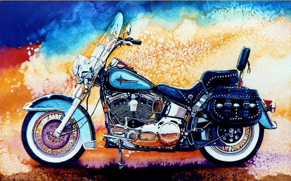 Алмазная вышивка «Мотоцикл»Алмазная вышивка Гранни<br><br><br>Артикул: Ag3445<br>Основа: Холст без подрамника<br>Сложность: сложные<br>Размер: 27х38 см<br>Выкладка: Полная<br>Количество цветов: 35<br>Тип страз: Квадратные