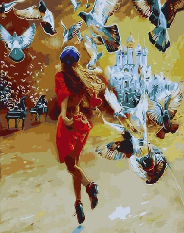 Картина по номерам «Летящей походкой» Влодзимежа КуклинскиРаскраски по номерам Color Kit<br><br><br>Артикул: CG701<br>Основа: Холст<br>Сложность: средние<br>Размер: 40x50 см<br>Количество цветов: 24<br>Техника рисования: Без смешивания красок