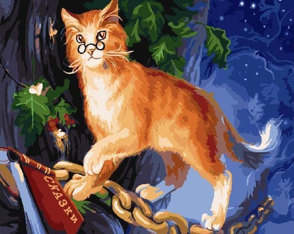 «Ученый кот»Раскраски по номерам Color Kit<br><br><br>Артикул: CG733<br>Основа: Холст<br>Сложность: легкие<br>Размер: 40x50 см<br>Количество цветов: 26<br>Техника рисования: Без смешивания красок