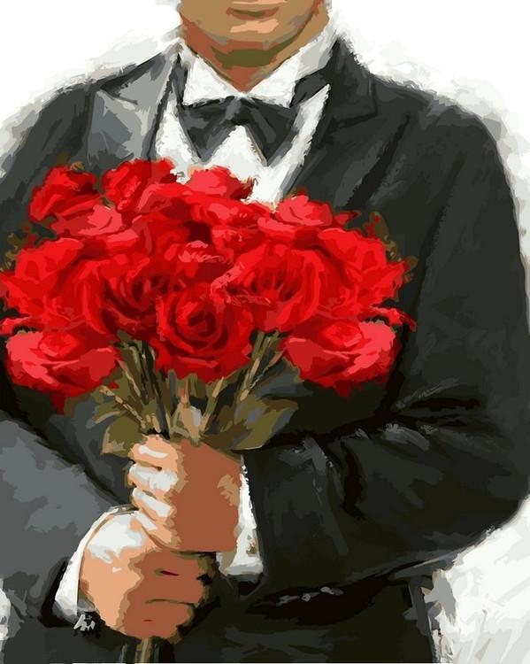 Картина по номерам «Розы для любимой» Ричарда МакнейлаРаскраски по номерам Color Kit<br><br><br>Артикул: CG796<br>Основа: Холст<br>Сложность: средние<br>Размер: 40x50 см<br>Количество цветов: 26<br>Техника рисования: Без смешивания красок