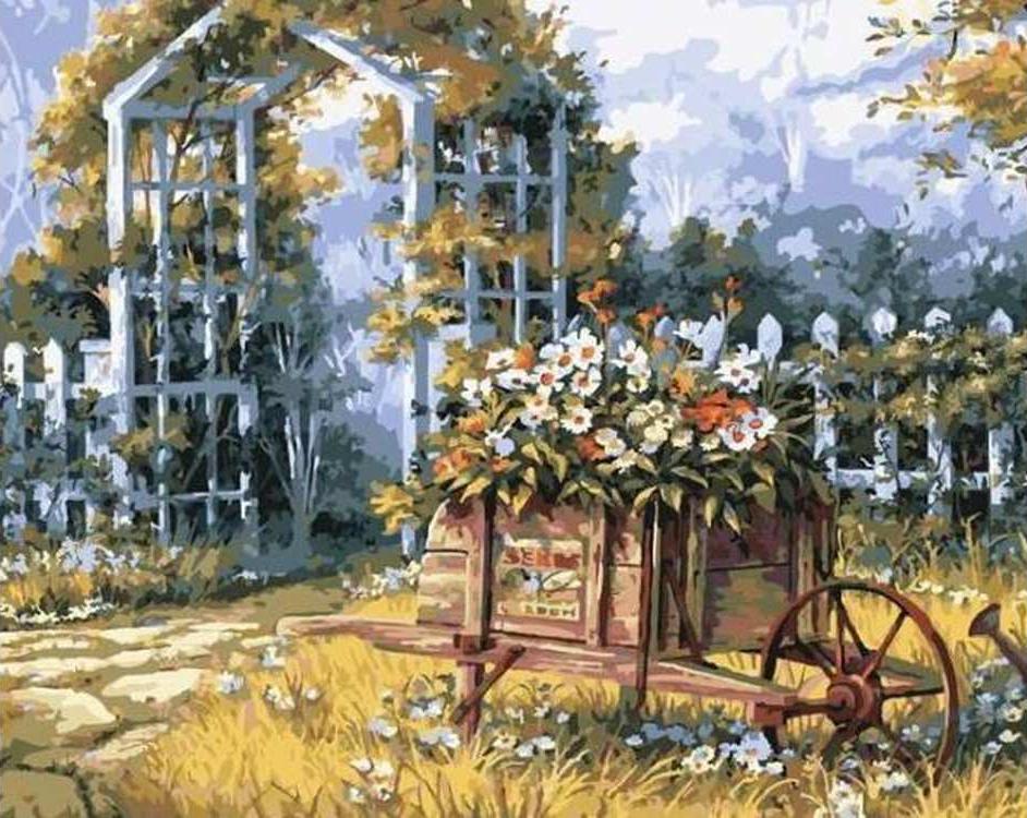 Картина по номерам «Арка в саду» Майкла ХамфрисаРаскраски по номерам Color Kit<br><br><br>Артикул: CG814<br>Основа: Холст<br>Сложность: средние<br>Размер: 40x50 см<br>Количество цветов: 26<br>Техника рисования: Без смешивания красок