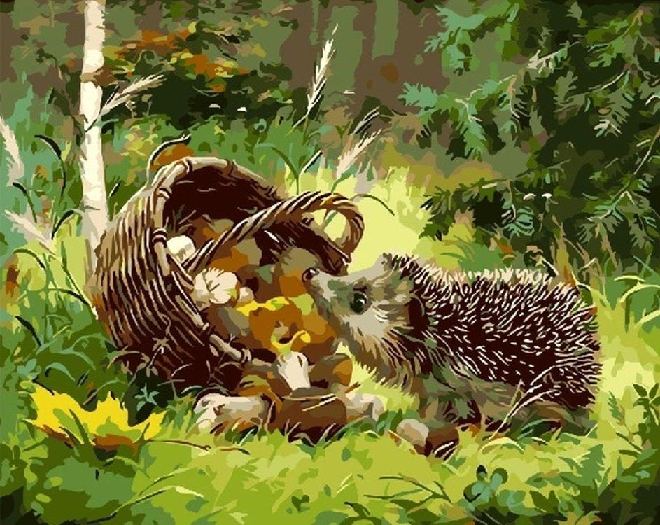 «Любопытный ежик» Иван ХарченкоPaintboy (Premium)<br><br><br>Артикул: GX3809<br>Основа: Холст<br>Сложность: средние<br>Размер: 40x50 см<br>Количество цветов: 24