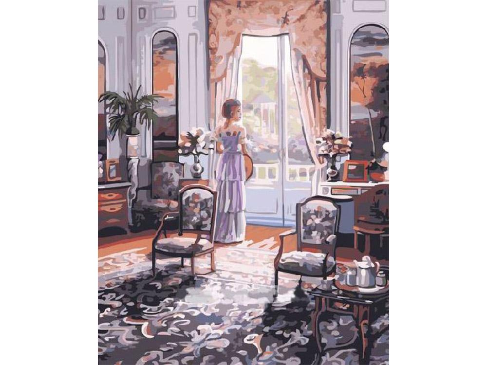 «Графиня у окна» Джона О'БрайенаPaintboy (Premium)<br><br><br>Артикул: GX4200<br>Основа: Холст<br>Сложность: средние<br>Размер: 40x50 см<br>Количество цветов: 27<br>Техника рисования: Без смешивания красок