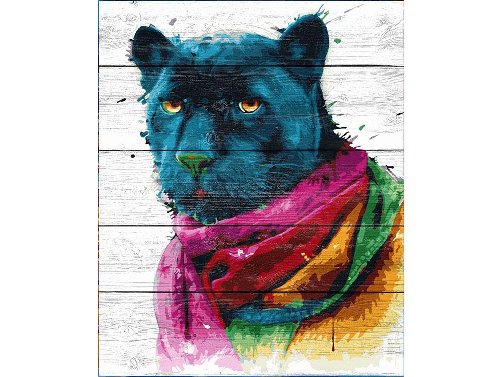 Картина по номерам по дереву Dali «Черный ягуар» Патриса МурсианоКартины по номерам по дереву Dali<br><br><br>Артикул: WS018<br>Основа: Деревянное панно<br>Сложность: очень сложные<br>Размер: 40x50 см<br>Количество цветов: 23