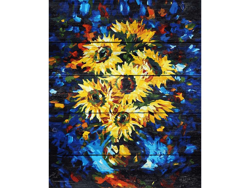 Купить Картина по номерам по дереву Dali «Подсолнухи» Леонида Афремова