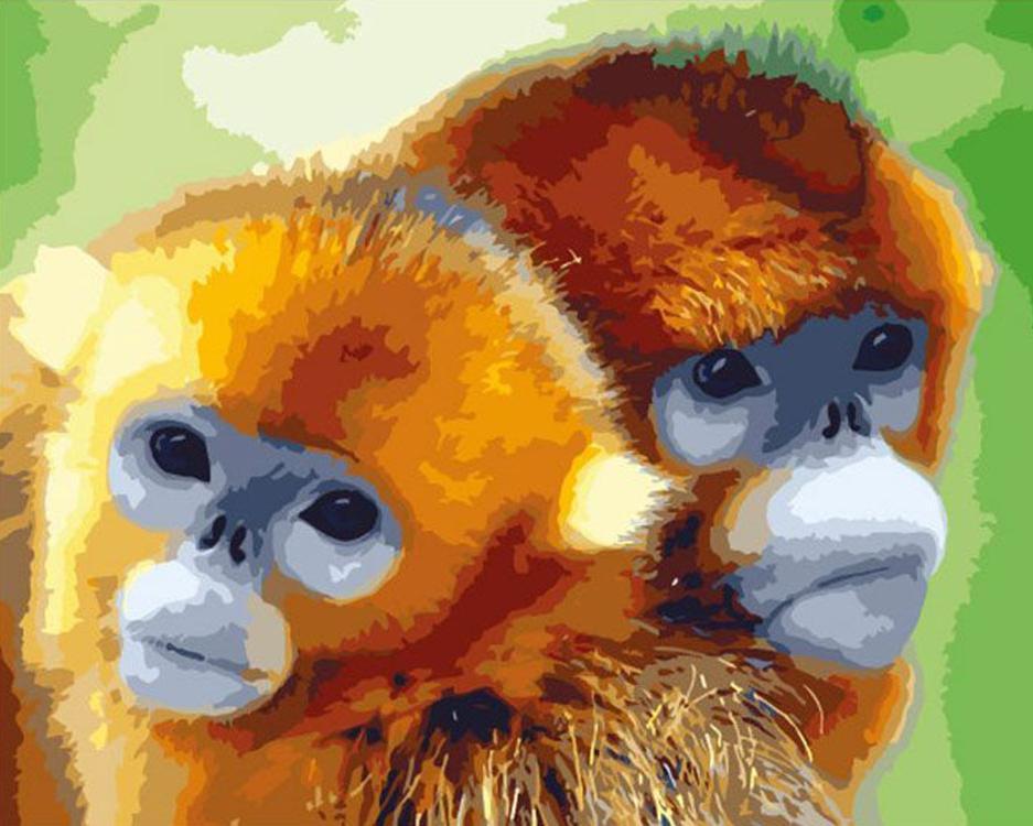 «Забавные обезьянки»Раскраски по номерам Menglei (Standart)<br><br><br>Артикул: MG612_S<br>Основа: Холст<br>Сложность: сложные<br>Размер: 40x50 см<br>Количество цветов: 24<br>Техника рисования: Без смешивания красок