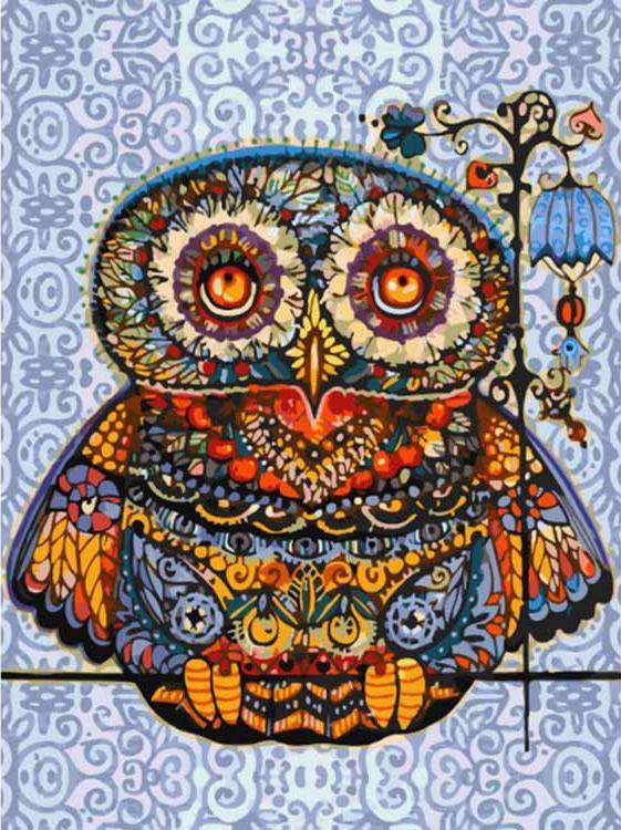 «Волшебная сова» Оксаны ЗаикиКартины по номерам Белоснежка<br><br><br>Артикул: 006-AS<br>Основа: Холст<br>Сложность: очень сложные<br>Размер: 30x40 см<br>Количество цветов: 31<br>Техника рисования: Без смешивания красок