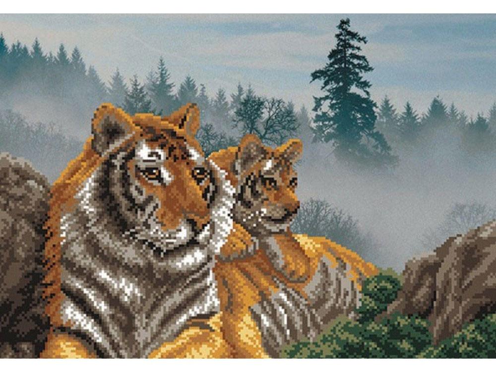 Набор вышивки бисером «Утро в тигровой пади»Вышивка бисером Матренин Посад<br><br><br>Артикул: 0003/Б<br>Основа: шелк<br>Размер: 37x49 см<br>Техника вышивки: бисер<br>Тип схемы вышивки: Цветная схема<br>Размер вышитой работы: 28x39 см<br>Количество цветов: 14<br>Заполнение: Частичное<br>Рисунок на канве: нанесён рисунок и схема<br>Техника: Вышивка бисером