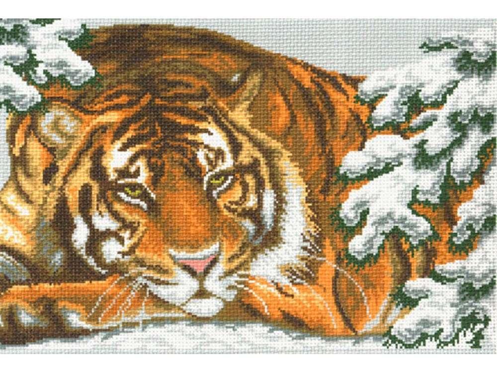 Набор для вышивания «Амурский тигр»Вышивка крестом Матренин Посад<br><br><br>Артикул: 0356/Н<br>Основа: хлопок К5.5<br>Размер: 37x49 см<br>Техника вышивки: несчетный крест<br>Тип схемы вышивки: Цветная схема<br>Размер вышитой работы: 27x39 см<br>Количество цветов: 14<br>Заполнение: Частичное<br>Рисунок на канве: нанесён рисунок и схема<br>Техника: Вышивка крестом<br>Нитки: нитки мулине ПНК им. Кирова