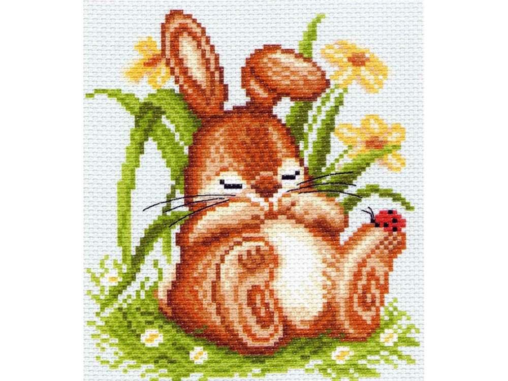 Набор для вышивания «Спящий кролик»Вышивка крестом Матренин Посад<br><br><br>Артикул: 1059/Н-1<br>Основа: хлопок К5.5<br>Размер: 28x37 см<br>Техника вышивки: несчетный крест<br>Тип схемы вышивки: Цветная схема<br>Размер вышитой работы: 14x15 см<br>Количество цветов: 14<br>Заполнение: Частичное<br>Рисунок на канве: нанесён рисунок и схема<br>Техника: Вышивка крестом<br>Нитки: нитки мулине ПНК им. Кирова