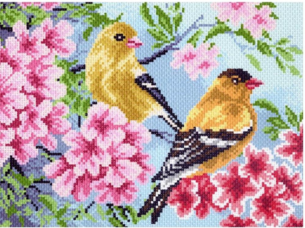Набор для вышивания «Птицы в саду»Вышивка смешанной техникой Матренин Посад<br><br><br>Артикул: 0011/БН<br>Основа: канва хлопок<br>Размер: 28x37 см<br>Техника вышивки: бисер+счетный крест<br>Тип схемы вышивки: Черно-белая схема<br>Размер вышитой работы: 17x23 см<br>Количество цветов: Мулине: 17, бисер: 10<br>Заполнение: Полное<br>Рисунок на канве: нанесён рисунок и схема<br>Техника: Смешанная техника<br>Нитки: нитки мулине (100% хлопок) ПНК им. Кирова, нитки для бисера