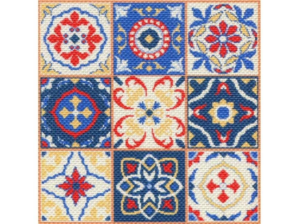Набор для вышивания «Мозаика»Вышивка крестом Матренин Посад<br><br><br>Артикул: 1751/Н<br>Основа: канва Aida 14<br>Размер: 41x41 см<br>Техника вышивки: несчетный крест<br>Тип схемы вышивки: Цветная схема<br>Размер вышитой работы: 34x34 см<br>Количество цветов: 7<br>Заполнение: Полное<br>Рисунок на канве: нанесён рисунок и схема<br>Техника: Вышивка крестом<br>Нитки: нитки мулине ПНК им. Кирова