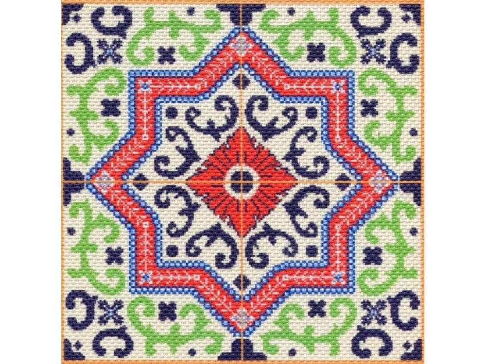 Набор для вышивания «Ажур»Вышивка крестом Матренин Посад<br><br><br>Артикул: 1752/Н<br>Основа: канва Aida 14<br>Размер: 41x41 см<br>Техника вышивки: несчетный крест<br>Тип схемы вышивки: Цветная схема<br>Размер вышитой работы: 34x34 см<br>Количество цветов: 8<br>Заполнение: Полное<br>Рисунок на канве: нанесён рисунок и схема<br>Техника: Вышивка крестом<br>Нитки: нитки мулине ПНК им. Кирова