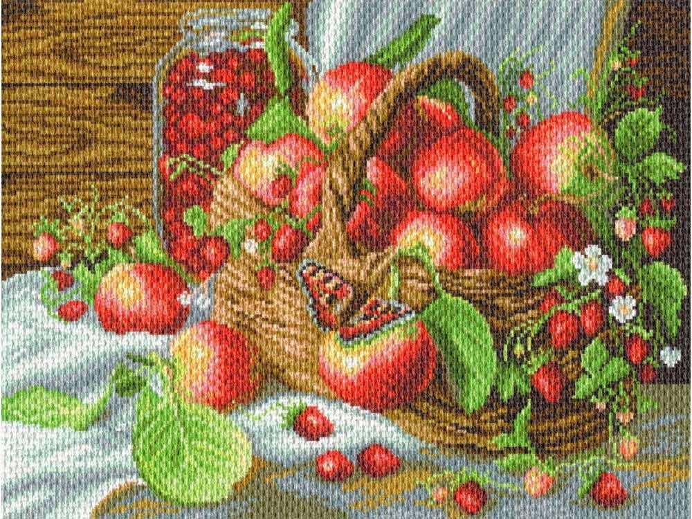 Набор для вышивания «Деревенский урожай»Вышивка крестом Матренин Посад<br><br><br>Артикул: 1782/Н<br>Основа: хлопок К5.5<br>Размер: 37x49 см<br>Техника вышивки: несчетный крест<br>Тип схемы вышивки: Цветная схема<br>Размер вышитой работы: 28x37 см<br>Количество цветов: 25<br>Заполнение: Полное<br>Рисунок на канве: нанесён рисунок и схема<br>Техника: Вышивка крестом<br>Нитки: нитки мулине ПНК им. Кирова