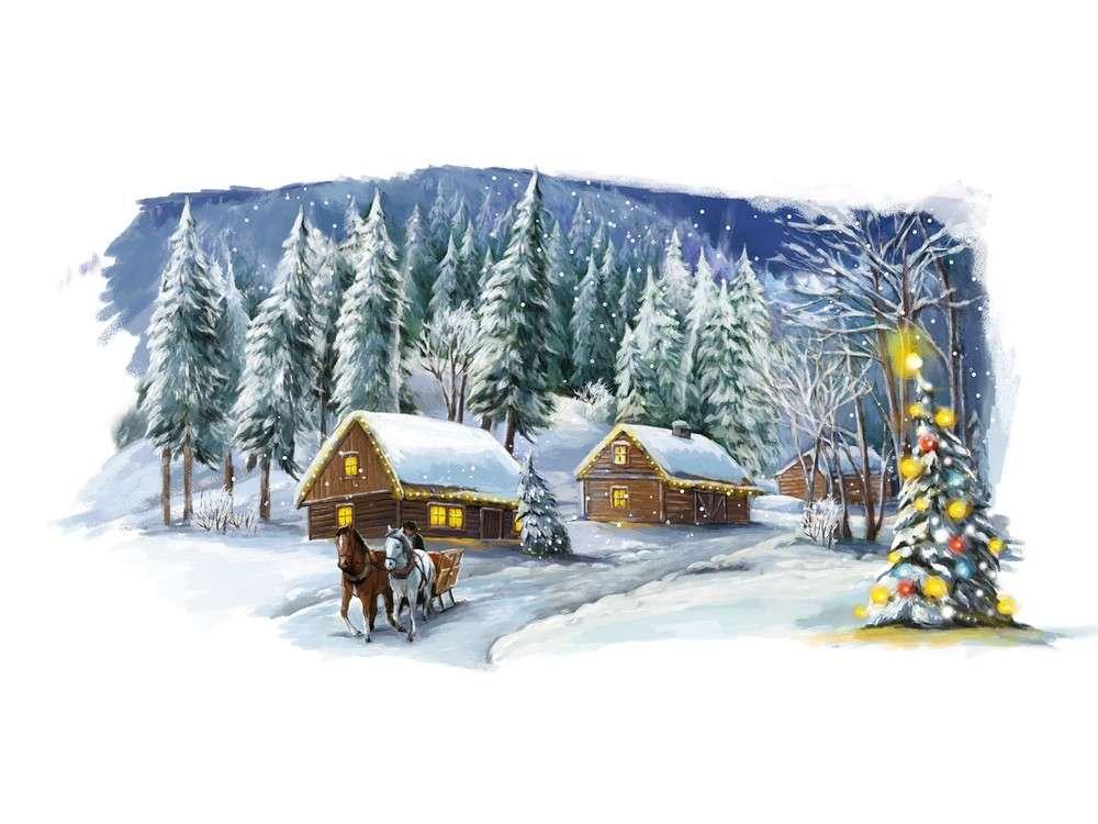 Набор для вышивания «Рождественская сказка»Вышивка крестом Матренин Посад<br><br><br>Артикул: 1846/Н<br>Основа: хлопок К5.5<br>Размер: 37x49 см<br>Техника вышивки: несчетный крест<br>Тип схемы вышивки: Цветная схема<br>Размер вышитой работы: 26x40 см<br>Количество цветов: 24<br>Заполнение: Частичное<br>Рисунок на канве: нанесён рисунок и схема<br>Техника: Вышивка крестом<br>Нитки: нитки мулине ПНК им. Кирова